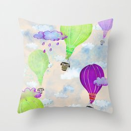 Go Where The Wind Blows Throw Pillow