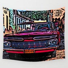 Old american car in Trinidad, Kuba Wall Tapestry