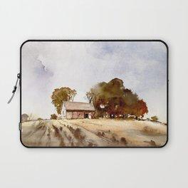 Lonely house on a hillfarm Laptop Sleeve
