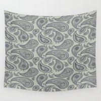 square Wall Tapestries featuring square by CJ Beegle
