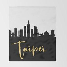 TAIPEI TAIWAN DESIGNER SILHOUETTE SKYLINE ART Throw Blanket