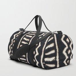African Vintage Mali Mud Cloth Print Duffle Bag