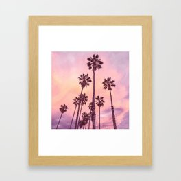 Palms to Pink World Framed Art Print