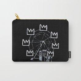 Banksy - Ferris Wheel - Tribute To JMBasquiat Artwork Carry-All Pouch