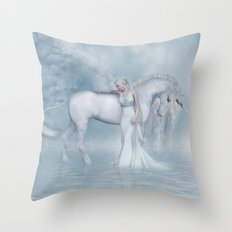 Unicorn dreamer Throw Pillow