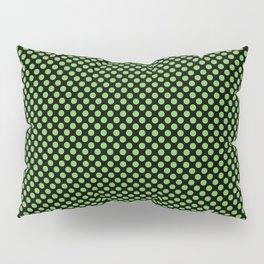 Black and Green Flash Polka Dots Pillow Sham