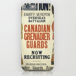 Vintage poster - Canadian Grenadier Guards iPhone Case