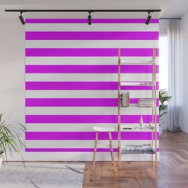 Orlando Orchid Pink Horizontal Tent Stripes Florida Colors of the Sunshine State Wall Mural