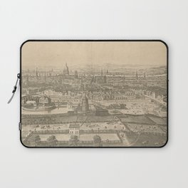 Vintage Pictorial Map of London England (1750) Laptop Sleeve