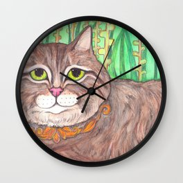 Tabby cat Wall Clock
