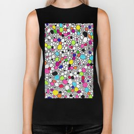 Circles and Other Shapes and colors Biker Tank