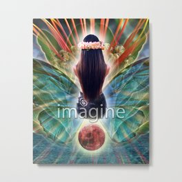 """Imagine"" by Visionary Artist Carolyn Quan Metal Print"