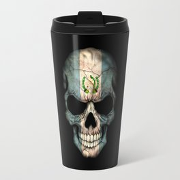 Dark Skull with Flag of Guatemala Travel Mug