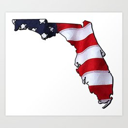 Patriotic Florida Art Print