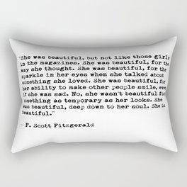F.Scott Fitzgerald - She was beautiful Rectangular Pillow