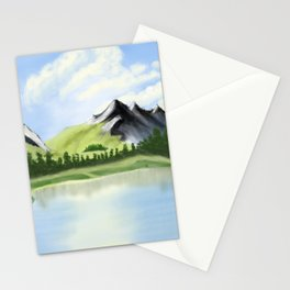 Mountain range, rocky mountains in watercolor Stationery Cards