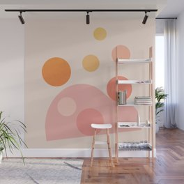Abstraction_COLOR_DOTS_PLAYFUL_Minimalism_001 Wall Mural