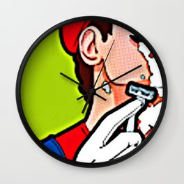 The Perfect Shave Wall Clock
