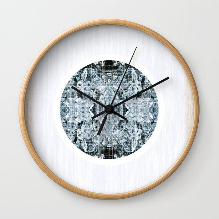 Symmetrical Iceberg Planet Wall Clock