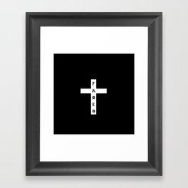 FADED CROSS Framed Art Print