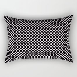 Black and Orchid Ice Polka Dots Rectangular Pillow
