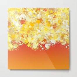 paint splatter on gradient pattern bli Metal Print