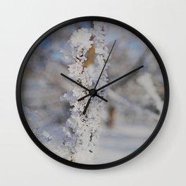 Snow crystal Wall Clock
