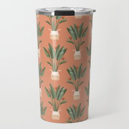 Bird of paradise in a basket pot Travel Mug