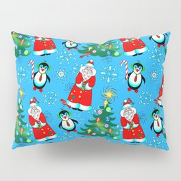 Santa and Penguins Pillow Sham