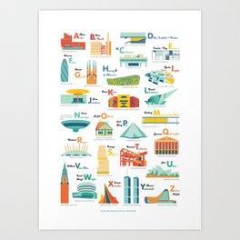 Architecture ABC Art Print