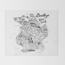 Brooklyn Map Throw Blanket