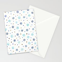 Watercolour Daisies & Stars Stationery Cards