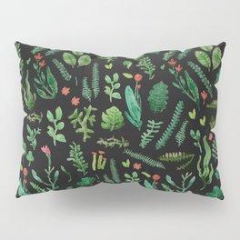 Green garden at nigth 3 Pillow Sham