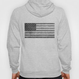 American flag - retro style in grayscale Hoody