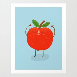 Apple Stretch Art Print