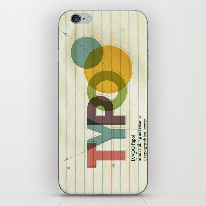 typo iPhone Skin