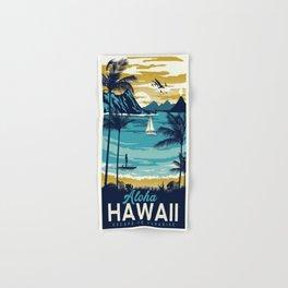 Vintage poster - Hawaii Hand & Bath Towel