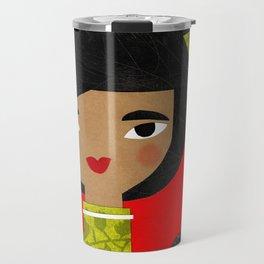 BLACK PONY TAIL Travel Mug