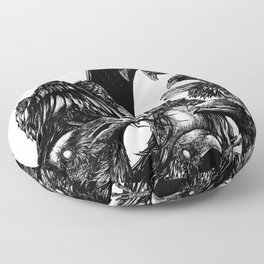 The Riot : Crows Floor Pillow