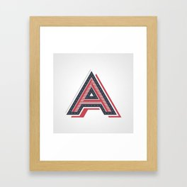 The Letter A Framed Art Print