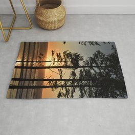 West Coast Sunset Pacific Ocean Beach Romantic Landscape Coastal Travel Vacation Forest Nature Outdo Rug