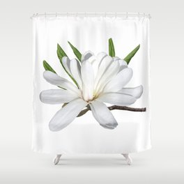 The Flower is the Star (Magnolia) Shower Curtain
