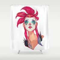 clown Shower Curtains featuring Clown by trevacristina