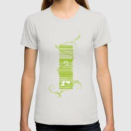 Barcode & Swirls T-shirt