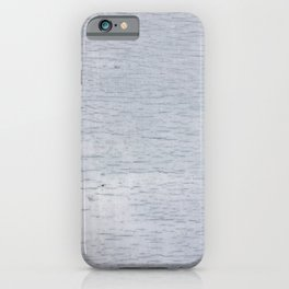 Blue-gray wood texture iPhone Case