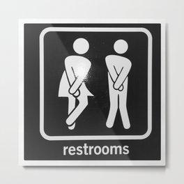 Restrooms Metal Print