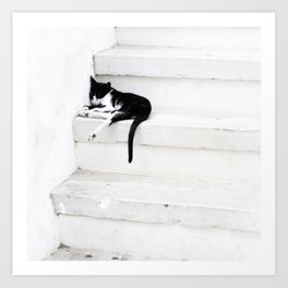 Black on White 2 Art Print