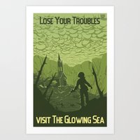 Lose Your Troubles in the Glowing Sea Art Print