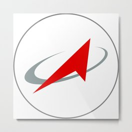 Roscosmos: Space Vehicle Logo Metal Print