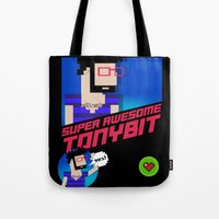 8 bit Tote Bags featuring 8-bit by EarlyHuman